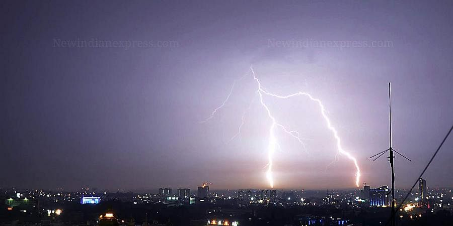 A representational image of lightning.