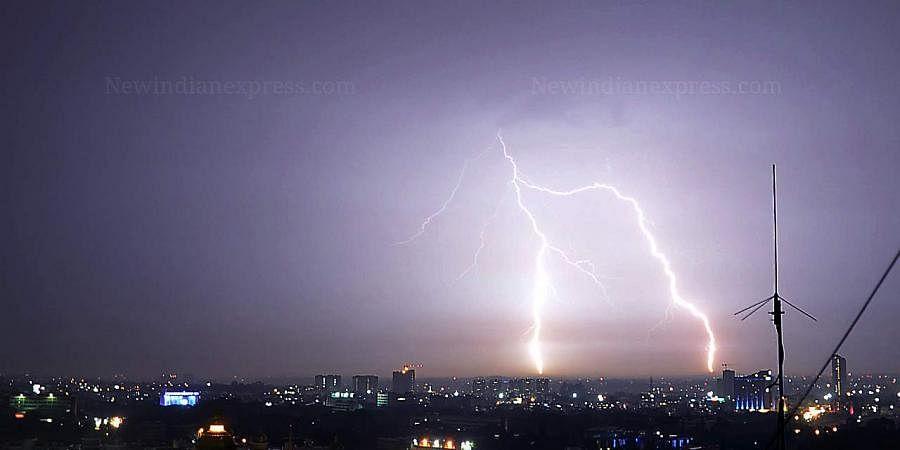 A representational image of lightning.
