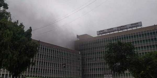 A fire broke out in AIIMS, New Delhi on 17 August 2019. (Photo | Parveen Negi, EPS)