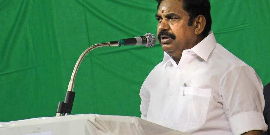 Tamil Nadu CM Edappadi K Palaniswamy