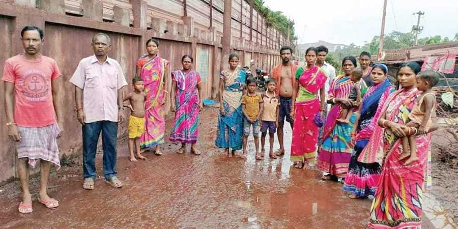 Residents of the rehabilitation colony at Musadiha villag