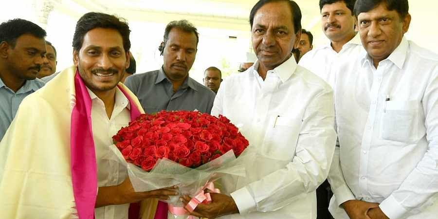 AP Chief Minister YS Jagan Mohan Reddy met Telangana CM K Chandrasekhar Rao at Pragathi Bhavan in Hyderabad on Thursday