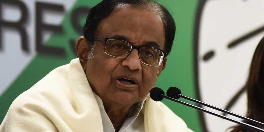 Former Union minister and senior Congress leader P Chidambaram