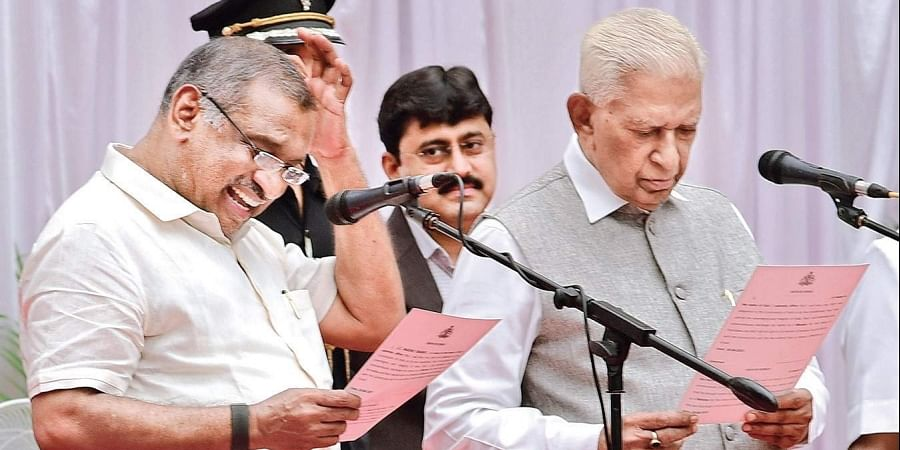 In a major slip of the tongue, MLA JC Madhuswamy took oath as the 'mukhya mantri' (chief minister) instead of 'mantri' (minister) at Raj Bhavan in Bengaluru on Tuesday