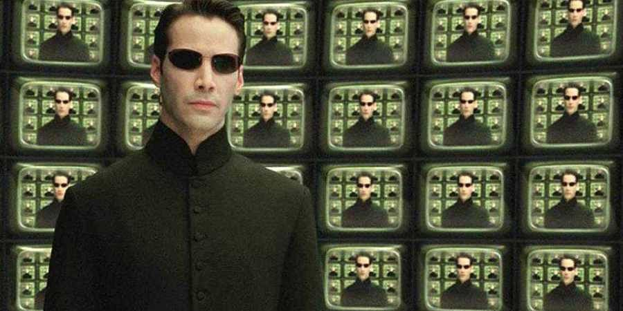 Keanu Reeves in Matrix Reloded.