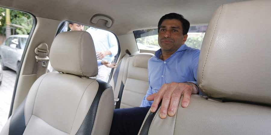 Madhya Pradesh CM Kamal Nath's nephew Ratul Puri leaves Enforcement Directorate office after being arrested in connection with a Rs 354 crore bank loan fraud case in New Delhi.