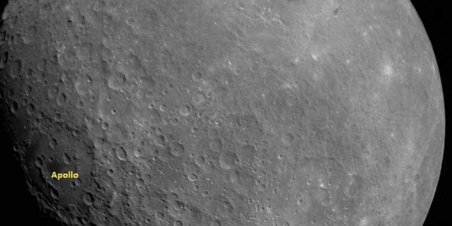 Chandrayaan 2: The image shows two significant Moon landmarks, the Apollo crater and Mare Orientale basin. (Photo   ISRO)
