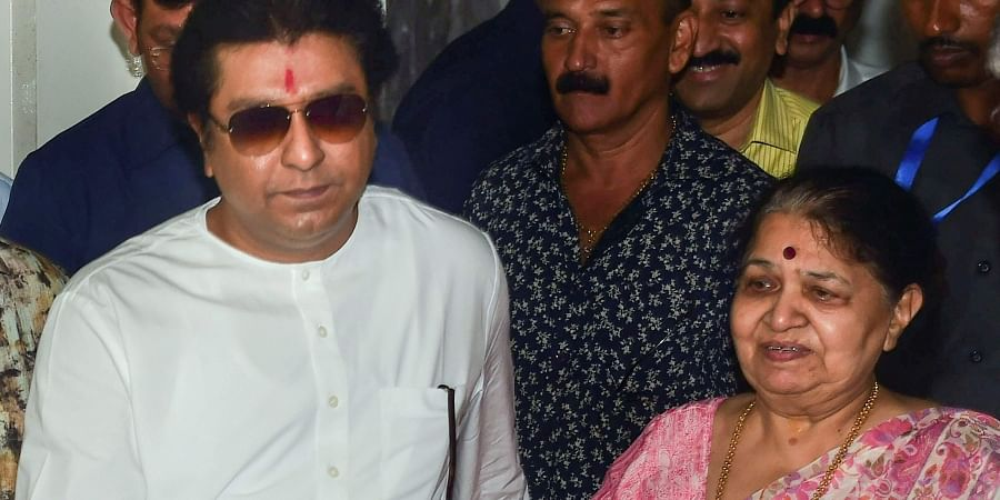 MNS chief Raj Thackeray and his mother