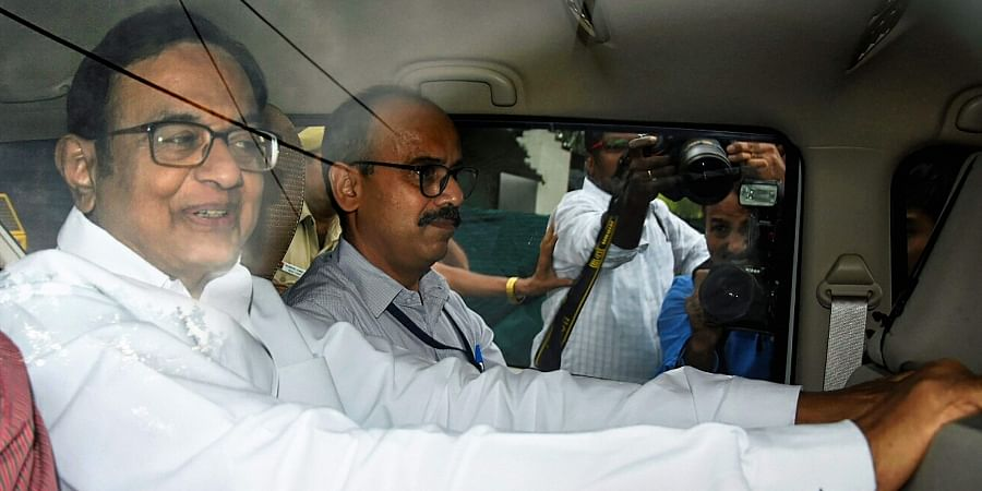 Congress leader and former finance minister P Chidambaram is being taken to court by the Central Bureau of Investigation CBI officials in the INX Media money laundering case in New Delhi.