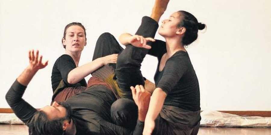 Snapshots of Aruna Ganesh Ram's play, Under Pressure