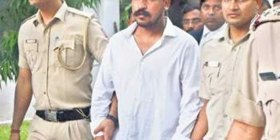Bhim Army chief Chandrashekhar Azad being brought to a cour