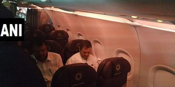 Rahul Gandhi and other opposition leaders were sent back from Srinagar airport. (Photo| ANI Twitter)