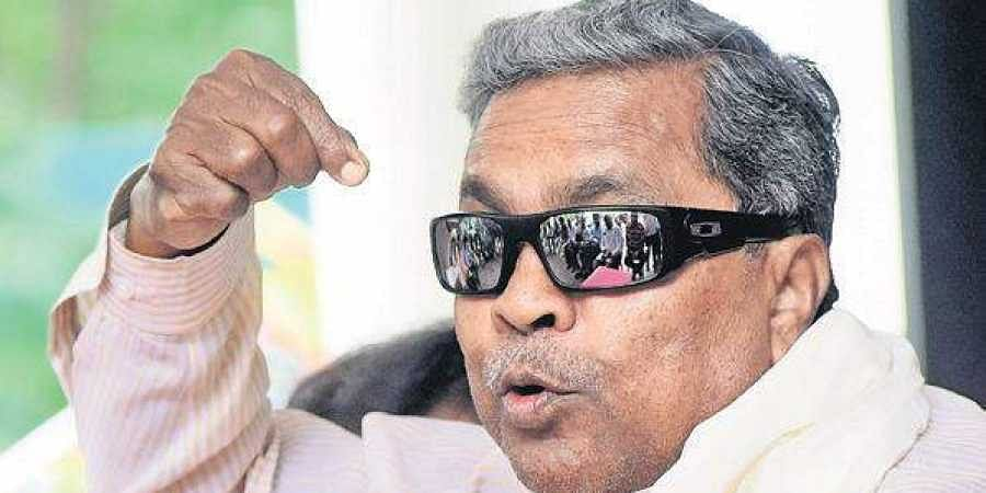 Former CM and Congress leader Siddaramaiah interacting with the media in Bengaluru on Friday