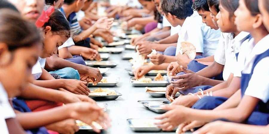 mid-day meal, mid-day meals, children