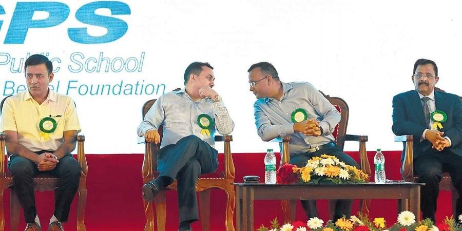 CBSE head COE (Trivandrum) Manish Kumar Tyagi, secretary Anurag Tripathi and Trivandrum Regional Officer Sachin Takur at the All-Kerala Kochi Conclave of Principals and Managers organised at Greets Public School, Kochi