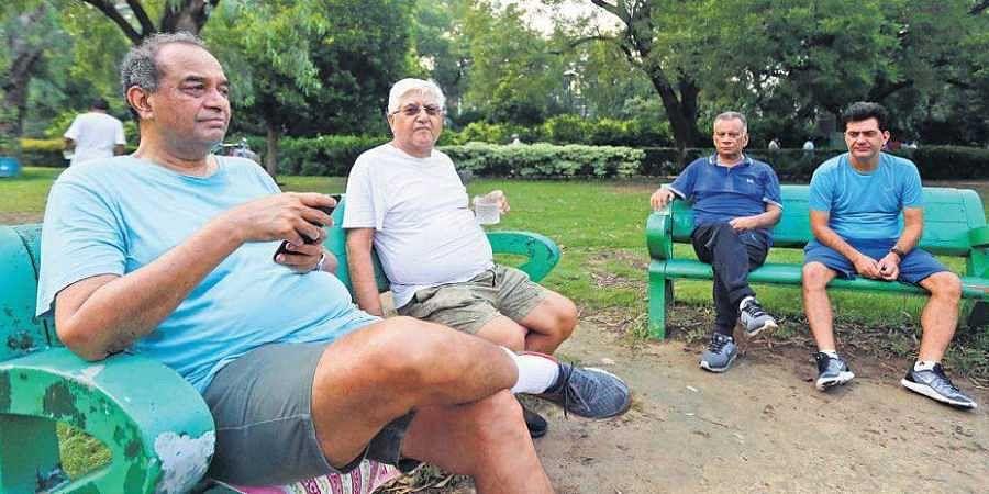 Mukul Rohatgi (left) and others were regulars at Arun Jaitley's morning walks in Lodhi Garden   Arun Kumar