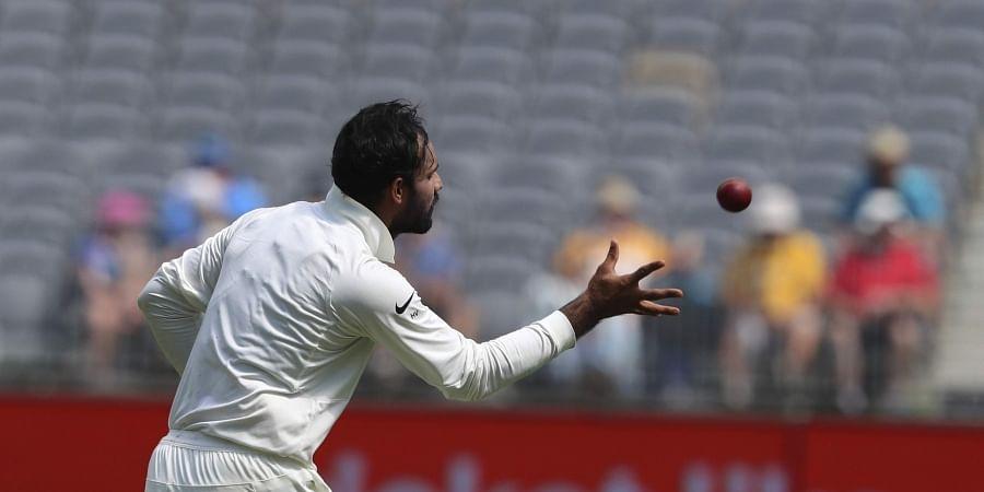 India's Hanuma Vihari prepares to bowl during the second cricket test against Australia in Perth, Australia. (File Photo   AP)