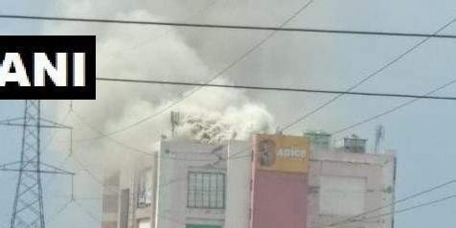 Fire breaks out in Noida Sector 25A's Spice Mall. Firefighting operations underway.