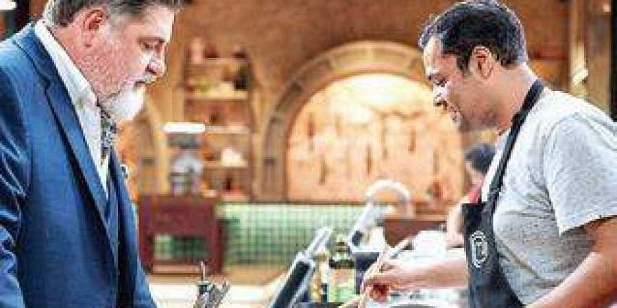 SandeepPandit With Matt Preston in Masterchef