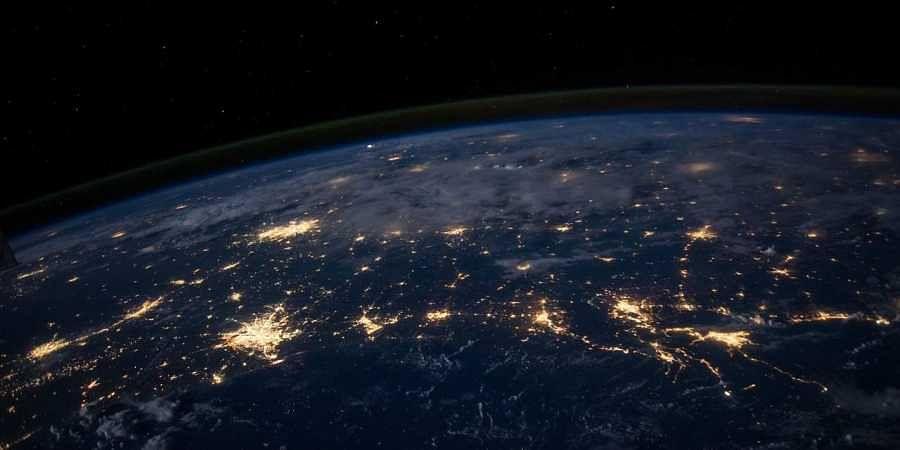 Earth planet, globe