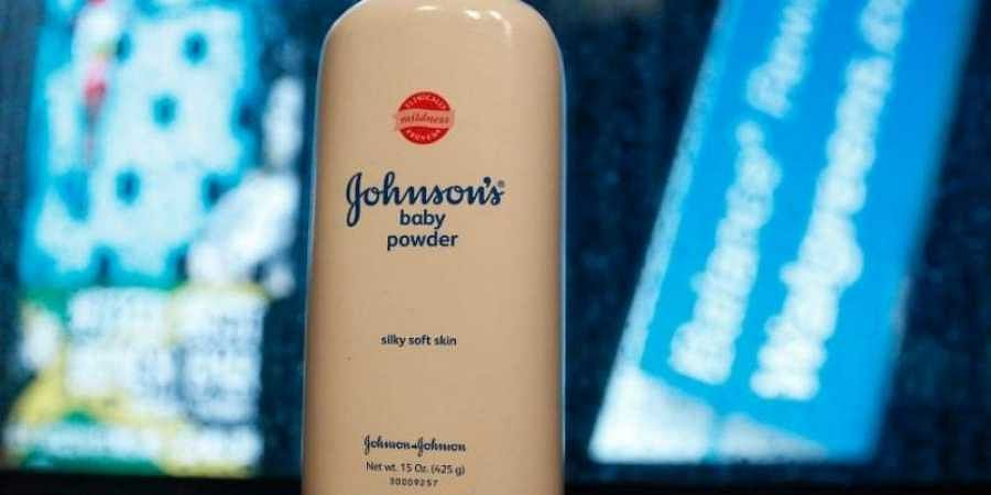 A bottle of Johnson and Johnson Baby Powder is seen in a photo illustration taken in New York.
