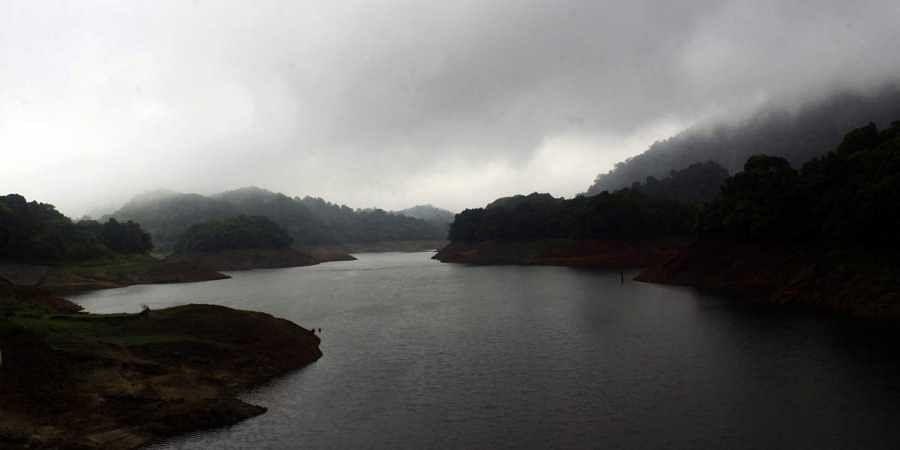 The reservoir for the Kakkayam Dam