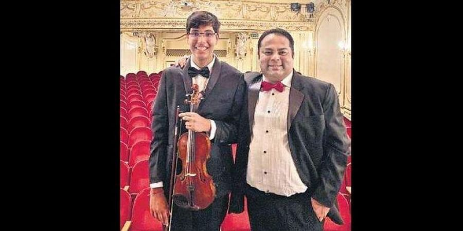 Parth Sarthi, 16, a teen violinist from Noida who represented India at Budapest's 'Voyage to Europe' music concert.