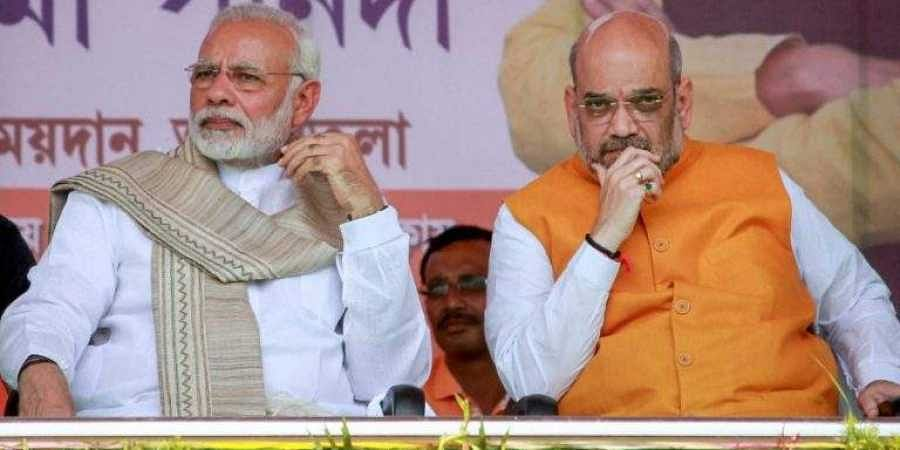 PM Narendra Modi with Union HomeMinister Amit Shah
