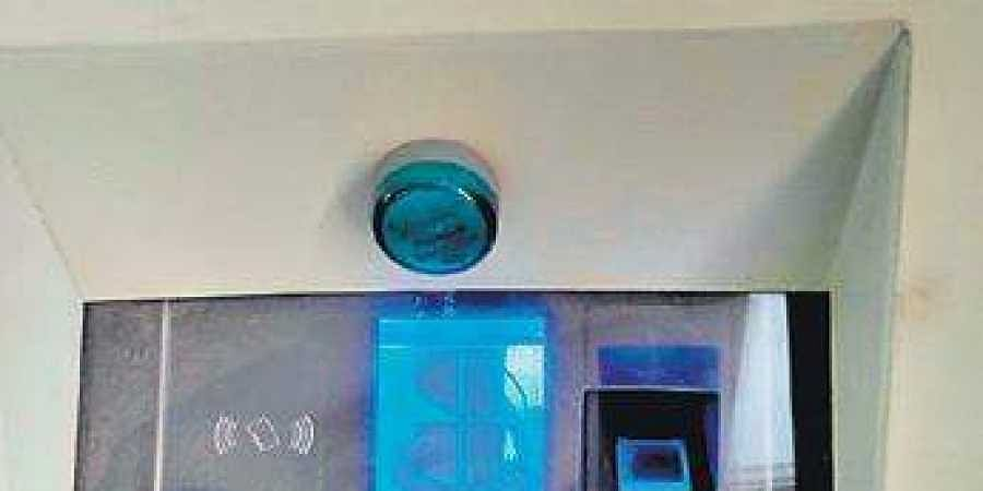 The biometric device at the BBMP's head office shows 9.43 while the actual time was 10.02 am when the pic was taken