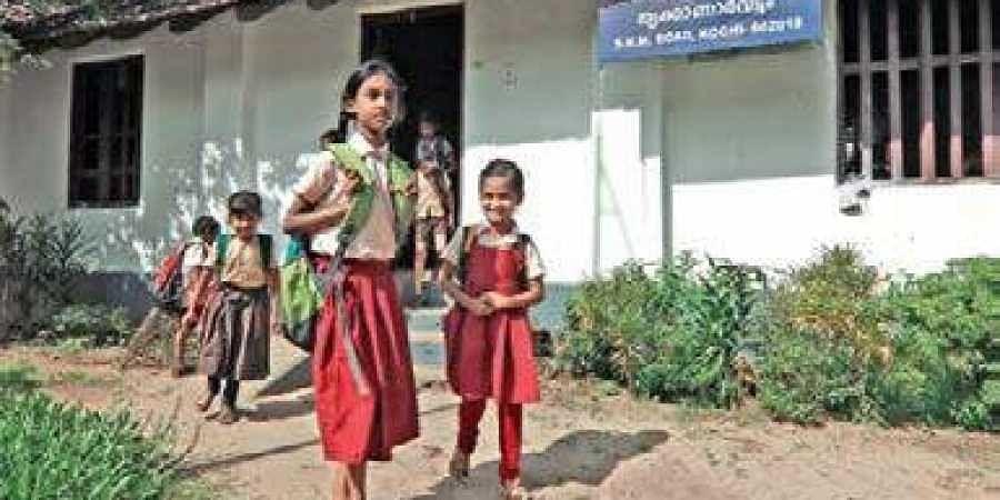 Children of migrant labourers at Union LP School at Kaloor