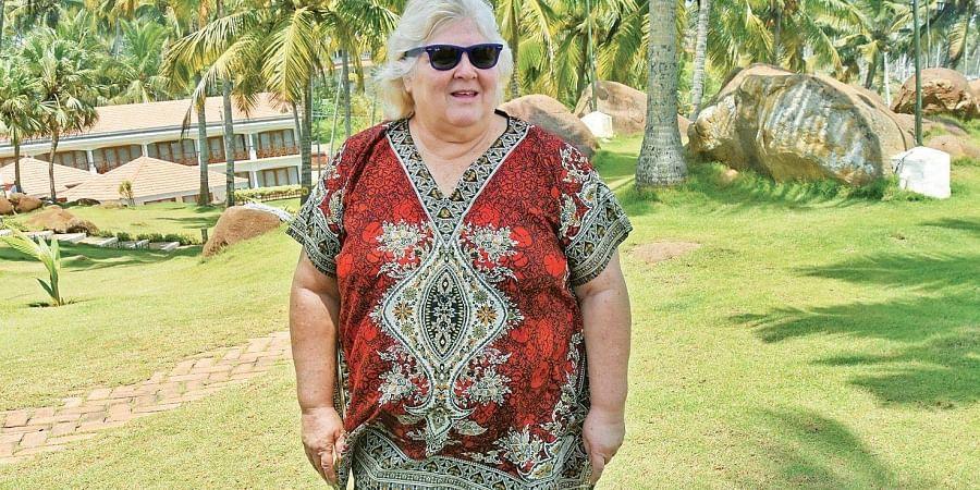Dr Aleida Guevara, daughter of legendary revolutionary Che Guevara, at Samudra Kovalam Resort in Thiruvananthapuram on Tuesday