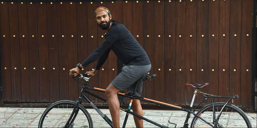 Chennai cyclist Naresh Kumar
