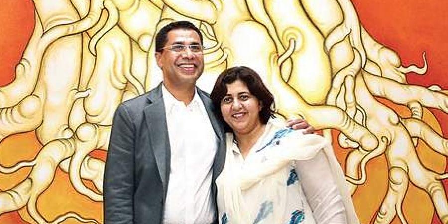 PhilanthropistsFaizal E Kottikollon and his wife Shabana. (Photo | EPS)