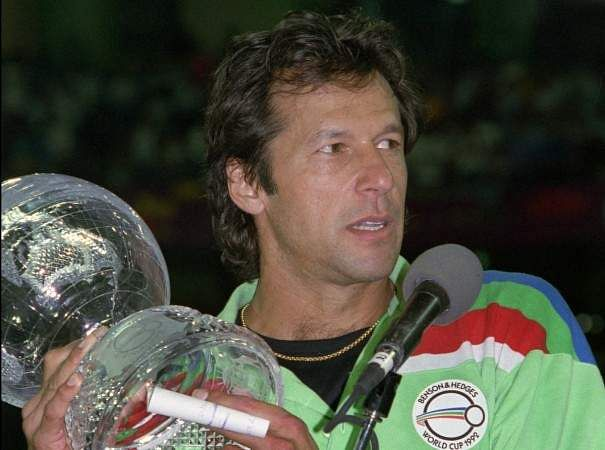 IMRAN KHAN with World Cup