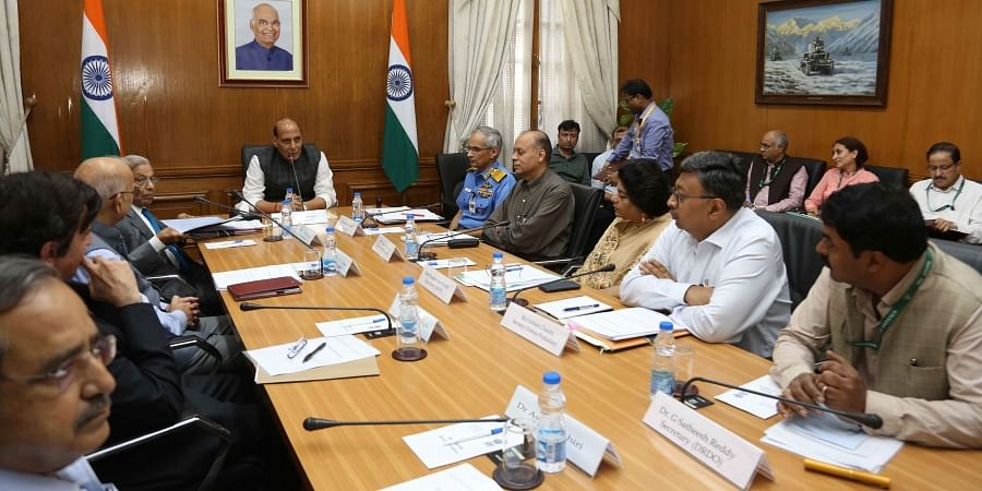 Fifteenth Finance Commission met Defence Minister Rajnath Singh and senior officials of Ministry of Defence