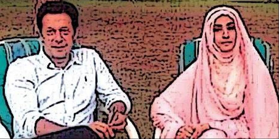 Imran Khan with wife Bushra Maneka.