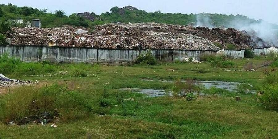 Image of a solid waste management site used for representational purposes.