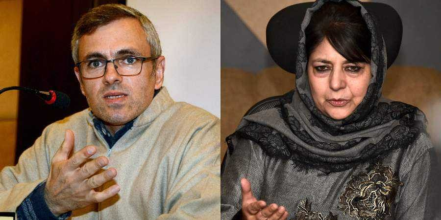 Former Jammu and Kashmir Chief Ministers Omar Abdullah and Mehbooba Mufti