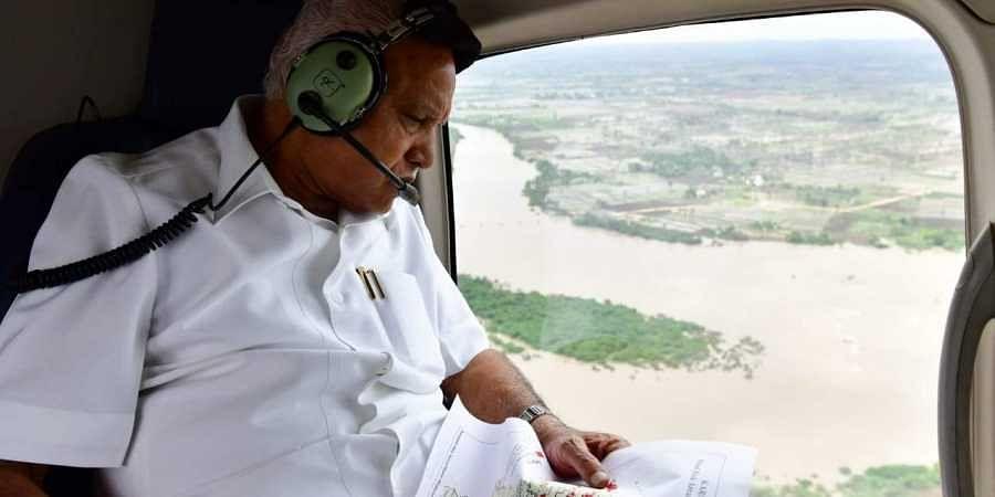 Karnataka CM BS Yediyurppa undertakes aerial survey of flood