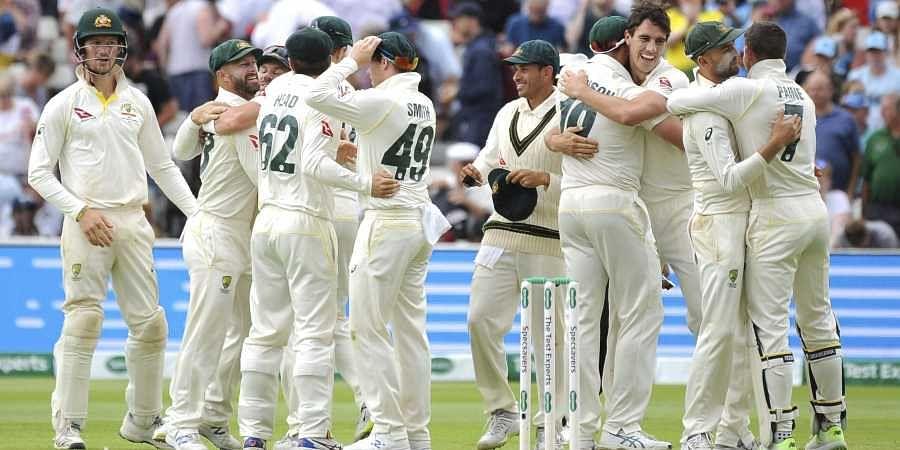 Australian players celebrate