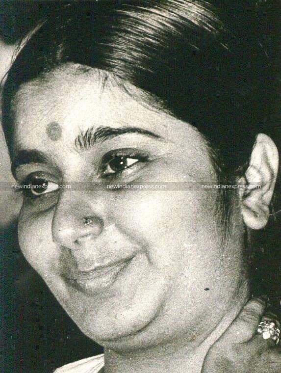 BJPstalwart Sushma Swaraj during her younger days.