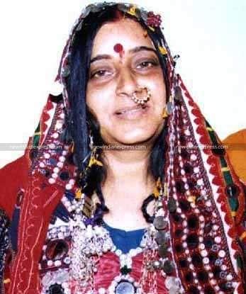 Former Union Minister Sushma Swaraj in a traditional attire.