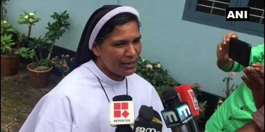 Sister Lucy was banned from church activities for demanding arrest of Bisshop Franco in nun rape case.