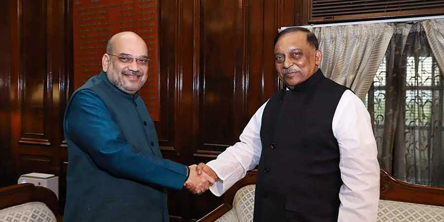 Home Minister Amit Shah with his Bangladeshi counterpart Asaduzzaman Khan at a meeting in New Delhi on 7 August 2019. (Photo | PTI)