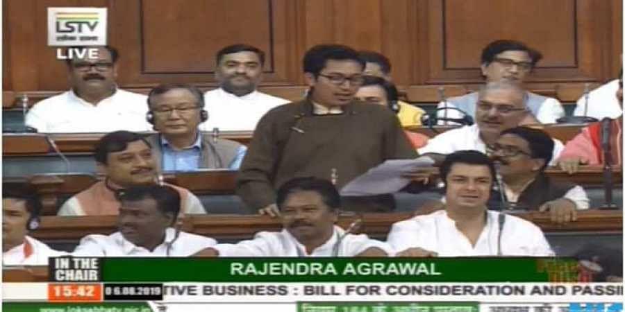 Jamyang Tsering Namgyal, BJP MP from Ladakh. (LS TV screengrab)
