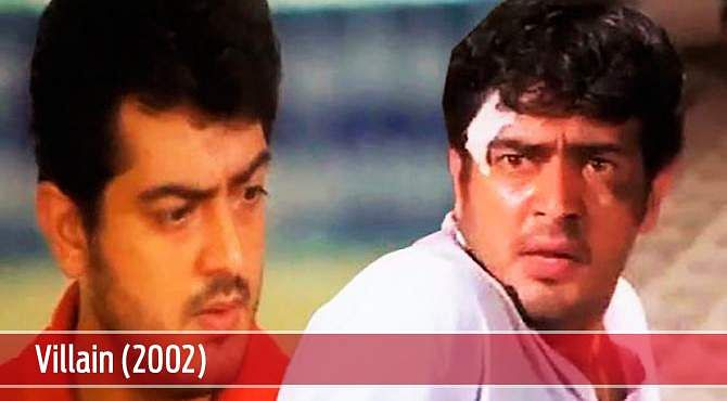 Villain (2002): Yet against Ajith acted in dual role in this KS Ravikumar directorial venture. He played the role of twin brothers, one as a bus conductor while the other with mild intellectual disability. The film earned him his second Filmfare Award for Best Actor.