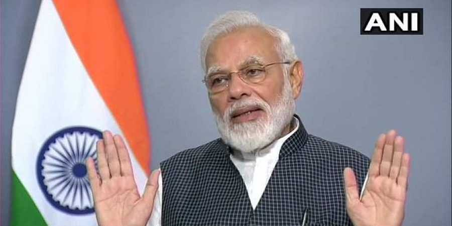 Prime Minister Narendra Modi addressing the nation on 8 August 2019 after Article 370 abrogation. (Photo | ANI Twitter)