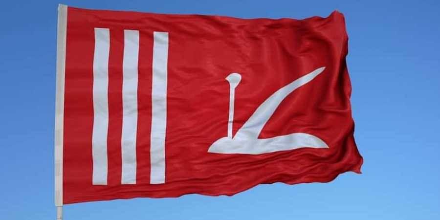Jammu and Kashmir flag. (Photo | Twitter)
