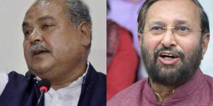 Union Ministers Narendra Singh Tomar and Prakash Javadekar