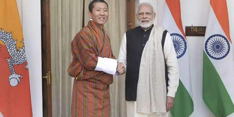 PM Narendra Modi with his Bhutanese counterpart, Lotay Tshering